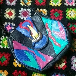 VINTAGE 1980s purse • Colorful • Halloween Costume